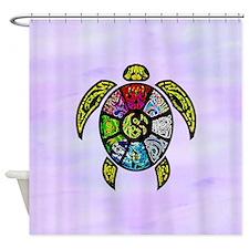 Turtle Ba-Gua Shower Curtain