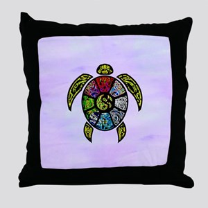 Turtle Ba-Gua Throw Pillow