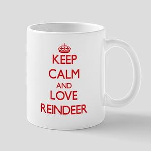 Keep calm and love Reindeer Mugs