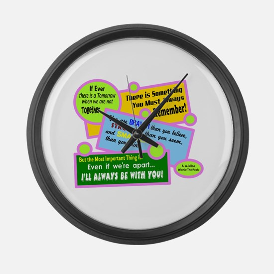 always Be With You-A. A. Milne Large Wall Clock