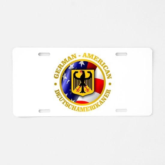 German-American Aluminum License Plate