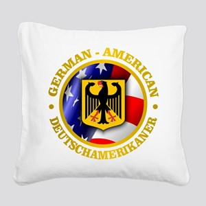 German-American Square Canvas Pillow