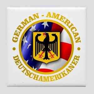 German-American Tile Coaster