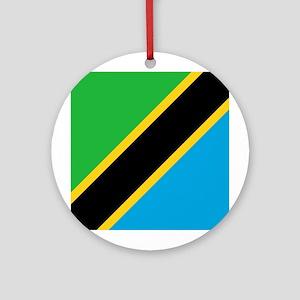Tanzania Flag Ornament (Round)