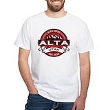 Alta ski resort Mens Classic White T-Shirts