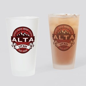 Alta Red Drinking Glass