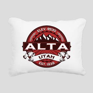 Alta Red Rectangular Canvas Pillow
