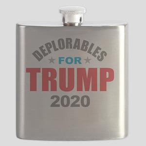 Deplorables for Trump 2020 Flask