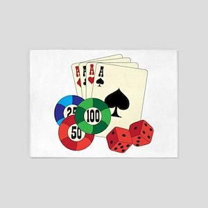 Gambling 5'x7'Area Rug