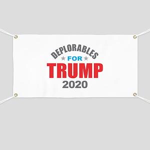 Deplorables for Trump 2020 Banner