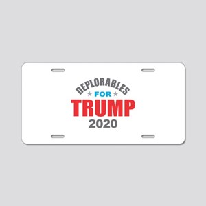 Deplorables for Trump 2020 Aluminum License Plate