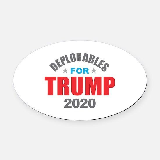 Deplorables for Trump 2020 Oval Car Magnet