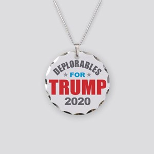 Deplorables for Trump 2020 Necklace Circle Charm