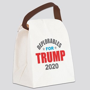 Deplorables for Trump 2020 Canvas Lunch Bag