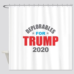 Deplorables for Trump 2020 Shower Curtain