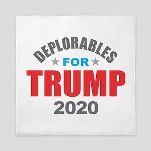 Deplorables for Trump 2020 Queen Duvet