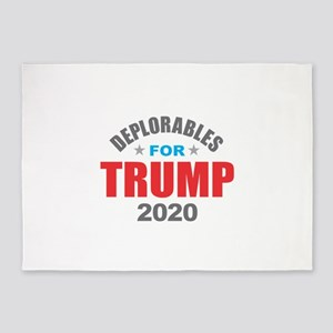 Deplorables for Trump 2020 5'x7'Area Rug
