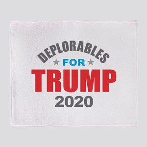 Deplorables for Trump 2020 Throw Blanket