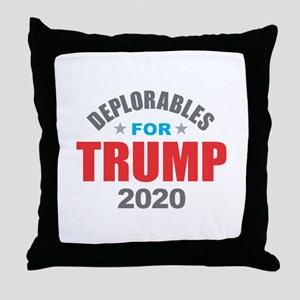 Deplorables for Trump 2020 Throw Pillow