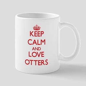 Keep calm and love Otters Mugs