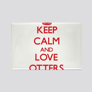 Keep calm and love Otters Magnets