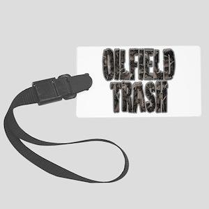 Oilfield Trash Riveted Metal Luggage Tag