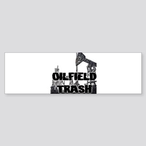 Oilfield Trash Diamond Plate Bumper Sticker