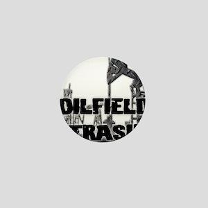 Oilfield Trash Diamond Plate Mini Button