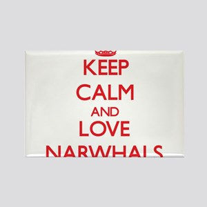 Keep calm and love Narwhals Magnets