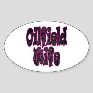 Pink Oilfield Wife Damask Sticker