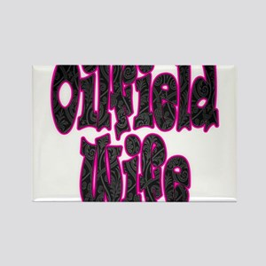Pink Oilfield Wife Damask Magnets