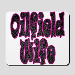 Pink Oilfield Wife Damask Mousepad