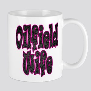 Pink Oilfield Wife Damask Mugs