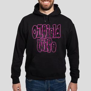 Pink Oilfield Wife Damask Hoodie