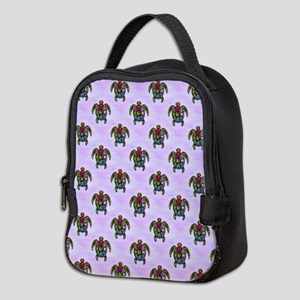 Turtle Ba-Gua Tiled Pattern Neoprene Lunch Bag