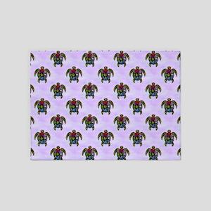 Turtle Ba-Gua Tiled Pattern 5'x7'Area Rug