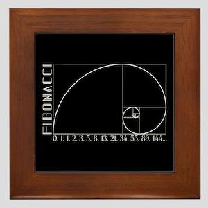 Fibonacci Spiral Framed Tile