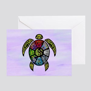 Turtle Ba-Gua Greeting Cards
