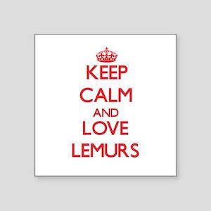 Keep calm and love Lemurs Sticker