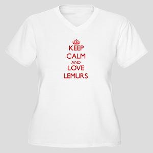 Keep calm and love Lemurs Plus Size T-Shirt