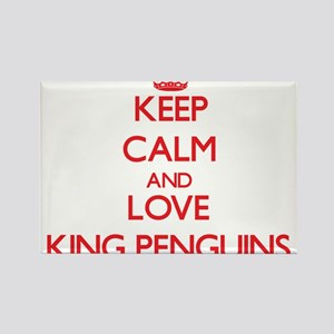 Keep calm and love King Penguins Magnets