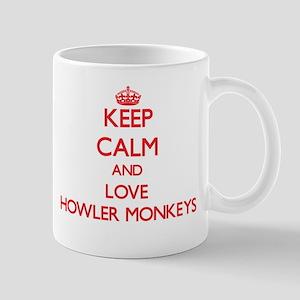 Keep calm and love Howler Monkeys Mugs
