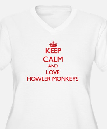 Keep calm and love Howler Monkeys Plus Size T-Shir