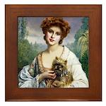 Brussels Griffon Portrait Framed Tile