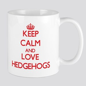 Keep calm and love Hedgehogs Mugs