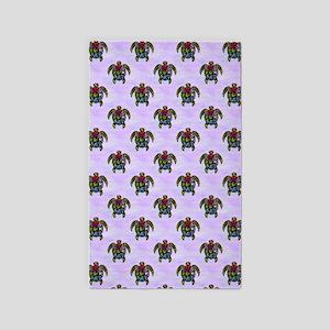 Turtle Ba-Gua Tiled Pattern 3'x5' Area Rug