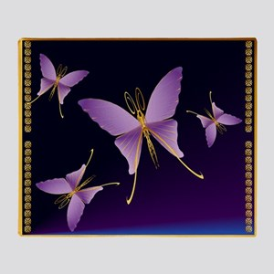 One Big Purple Butterfly2 Throw Blanket