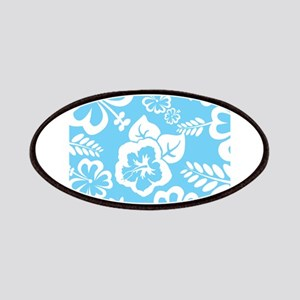 Light Blue Exotic flowers Patches