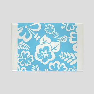Light Blue Exotic flowers Magnets