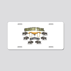 history in the oregon trail Aluminum License Plate